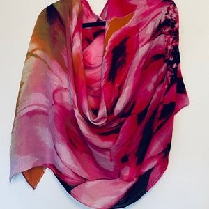 Cynthia Rowley | Beautiful Abstract Floral Scarf